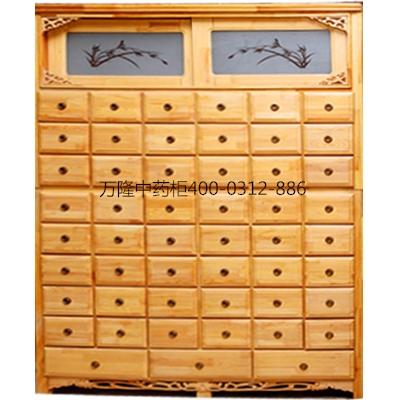 樟松木原木色药柜